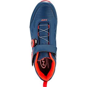 Northwave Corsair Zapatillas Hombre, blue/lobster orange